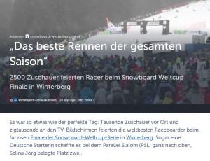 Teaserbild Storiform Snowboard Weltcup